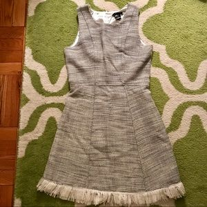 Aqua Tweed Sleeveless Mini Dress